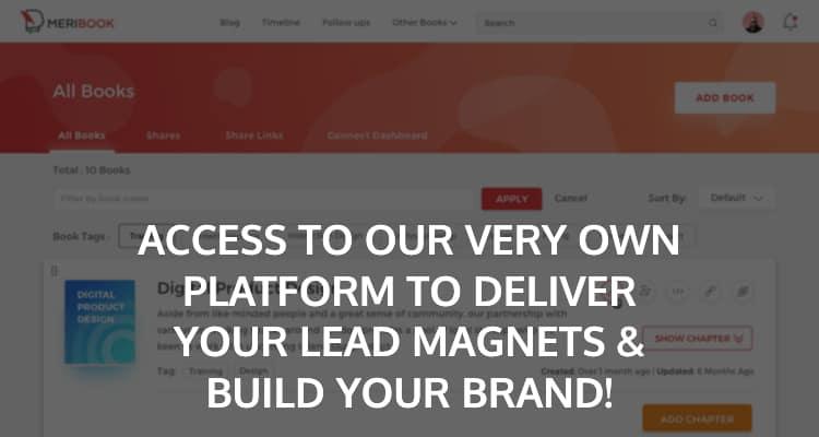 Meribook Lead Magnet Platform